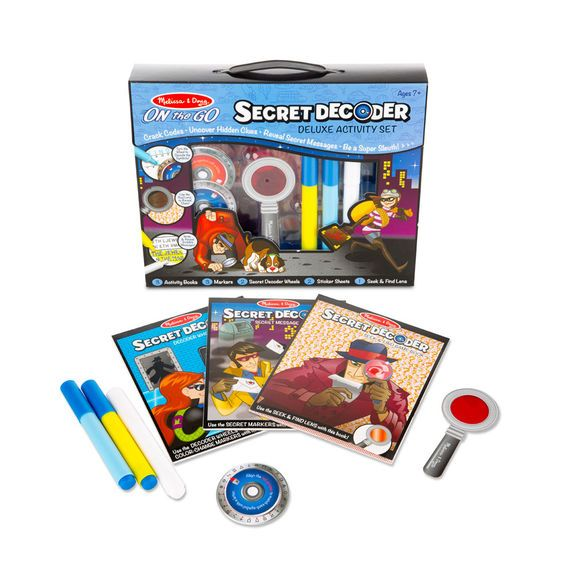 Melissa & Doug Secret Decoder Deluxe Activity Set - OTG