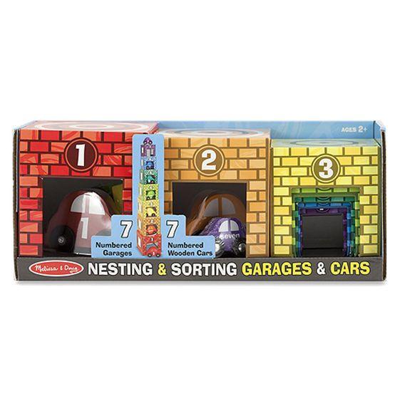 Melissa & Doug Nesting & Sorting - Garages & Cars