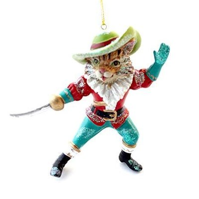 Gisela Graham Puss In Boots Resin Hanging Decoration
