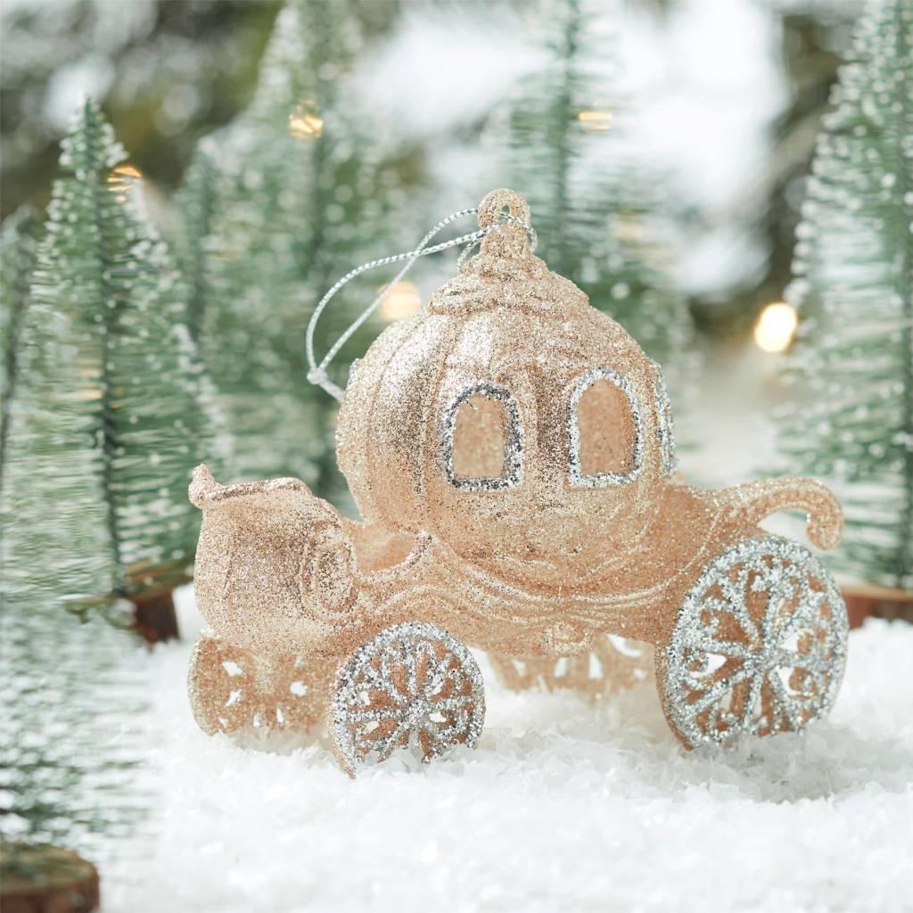 Gold & Silver Glitter Princess Coach Decoration