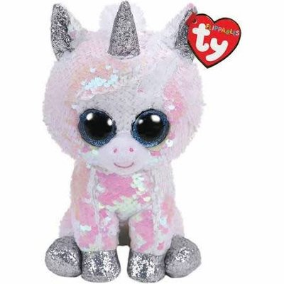 Ty Flippable Sequin Diamond White Unicorn - Beanie Boo Buddy