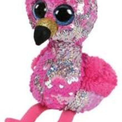 Ty Flippable Sequin Pink Flamingo - Beanie Boo