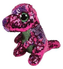 Flippable Sequin Stompy Dinosaur - Beanie Boo. £8.50. Ty Flippable Sequin  Whimsy Blue Cat ... 2d15fae59ff6