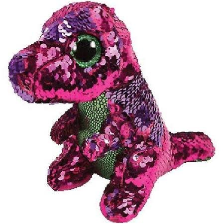 Ty Flippable Sequin Stompy Dinosaur - Beanie Boo
