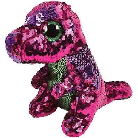 Ty Flippable Sequin Stompy Dinosaur - Beanie Boo Buddy