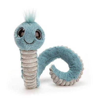 Jellycat - Pocket Pals Jellycat - Wiggly Worm - Blue