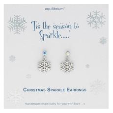 Equilibrium Tis The Season To Sparkle - Snowflake Earrings