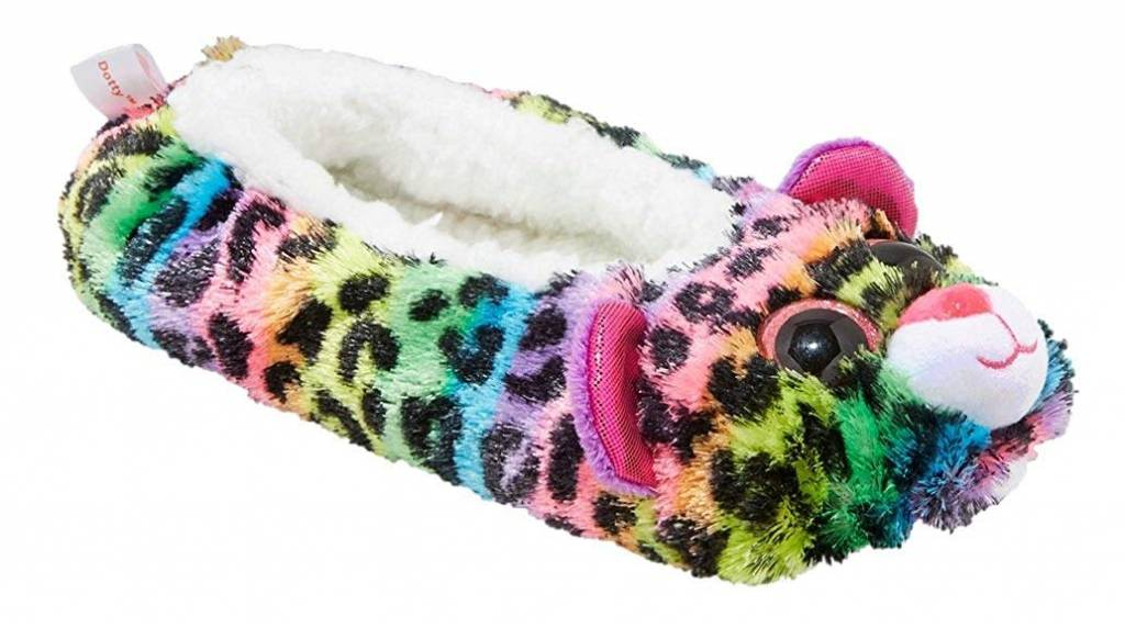 afe0bc44c0a Dotty the Leopard Ty Slippers - Medium - Celebrations and Toys