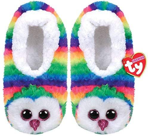 Owen Owl Ty Beanie Boo Slippers - Large - UK Size 4 - Celebrations ... b1f6f78211c