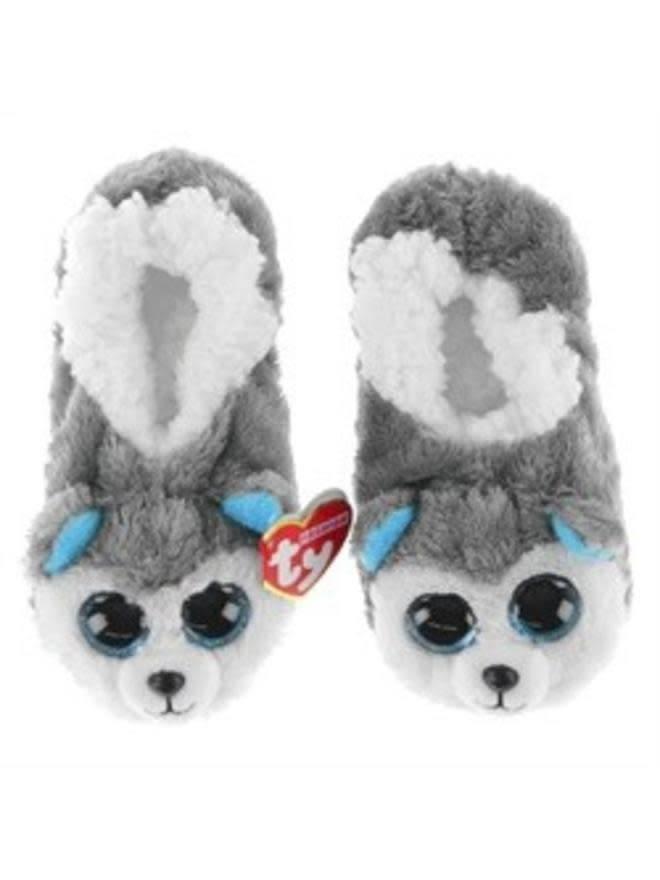 Ty Slush Husky Ty Beanie Boo Slippers - Large - UK SIze 4
