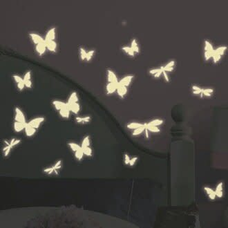 Butterfly & Dragonfly Glow In The Dark - Wall Decal