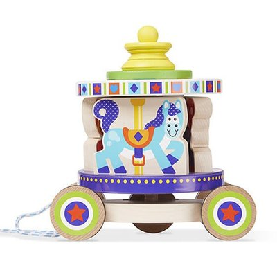 Melissa & Doug First Play - Carousel Pull Along Toy