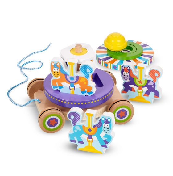 Melissa & Doug First Play Carousel Pull Along Toy