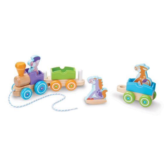 Melissa & Doug First Play - Rocking Farm Animals Pull Train