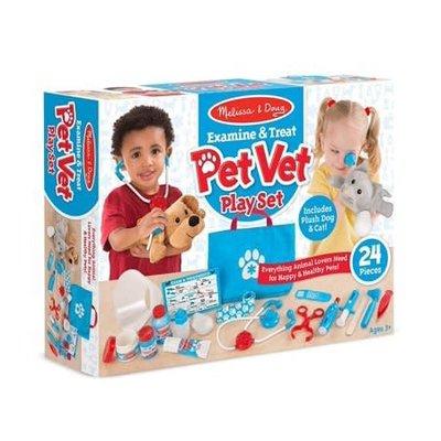 Melissa & Doug Pet Vet Play Set - Examine & Treat