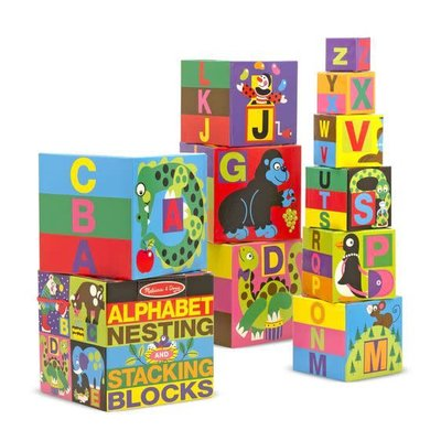 Melissa & Doug Alphabet Nesting / Stacking Blocks