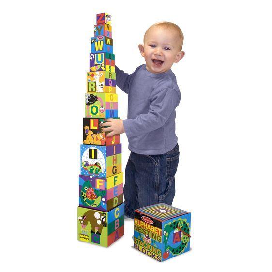 Melissa & Doug Alphabet Nesting / Stacking Blocks