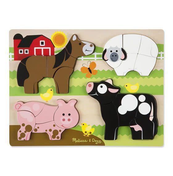 Melissa & Doug Chunky Jigsaw Puzzle - Farm