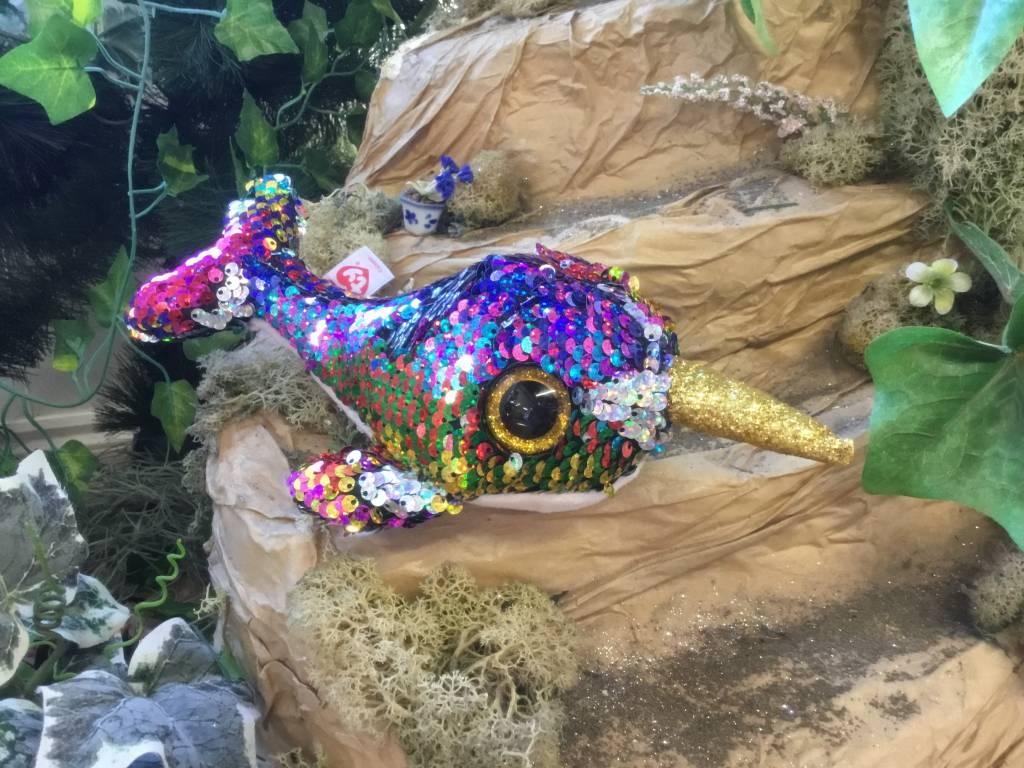 Flippable Sequin Calypso Narwhal - Beanie Boo - Celebrations and Toys 8f27b6f93453