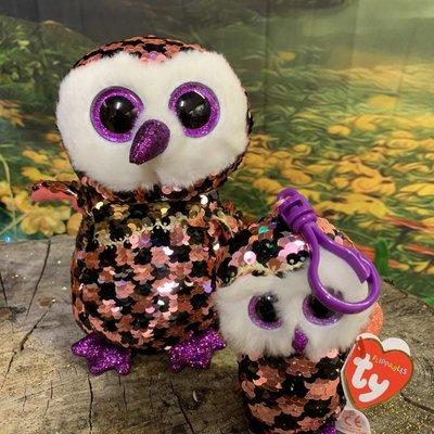 Ty Flippable Sequin Checks Owl - Beanie Boo