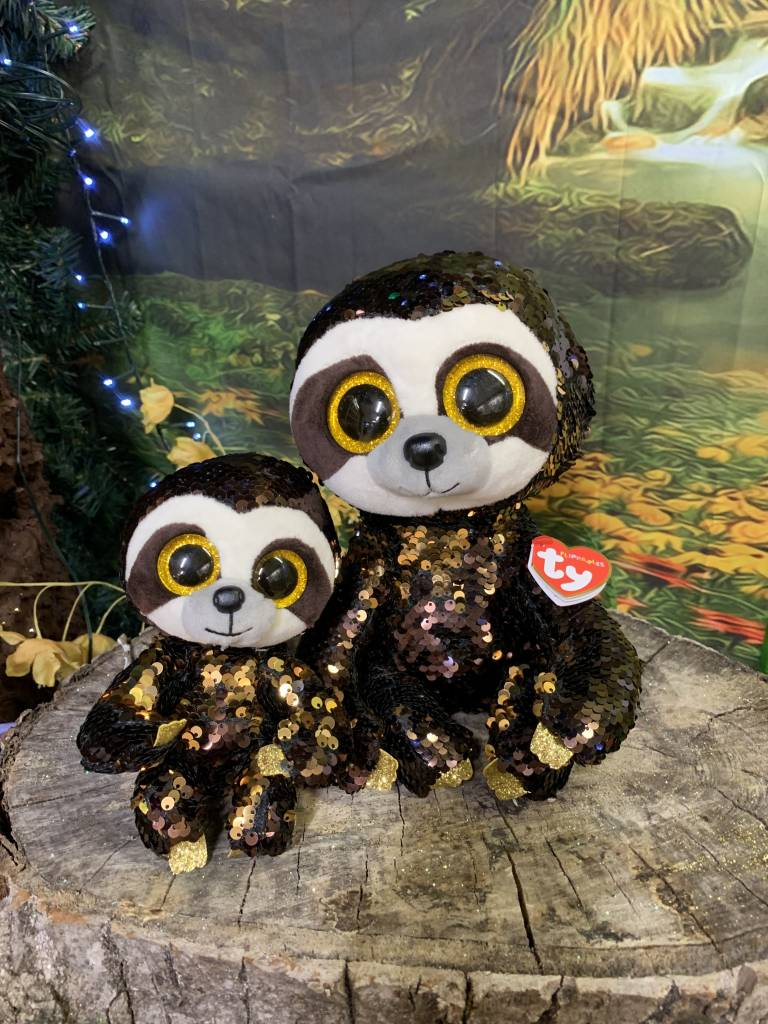 Ty Flippable Sequin Dangler Sloth - Beanie Boo