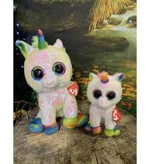 e3459eb592e Flippable Sequin Sunset Unicorn - Beanie Boo Key Clip - Celebrations ...