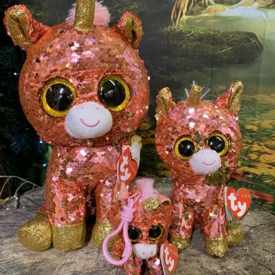 Ty Flippable Sequin Sunset Unicorn - Beanie Boo