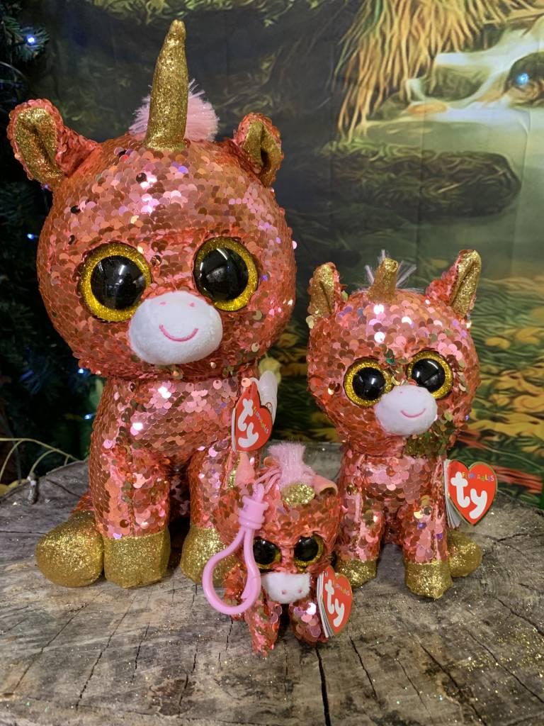 Ty Flippable Sequin Sunset Unicorn - Beanie Boo Buddy