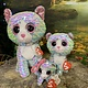 Ty Flippable Sequin Whimsy Blue Cat - Beanie Boo