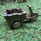 Garden Miniatures Wooden Style Tri-Cart