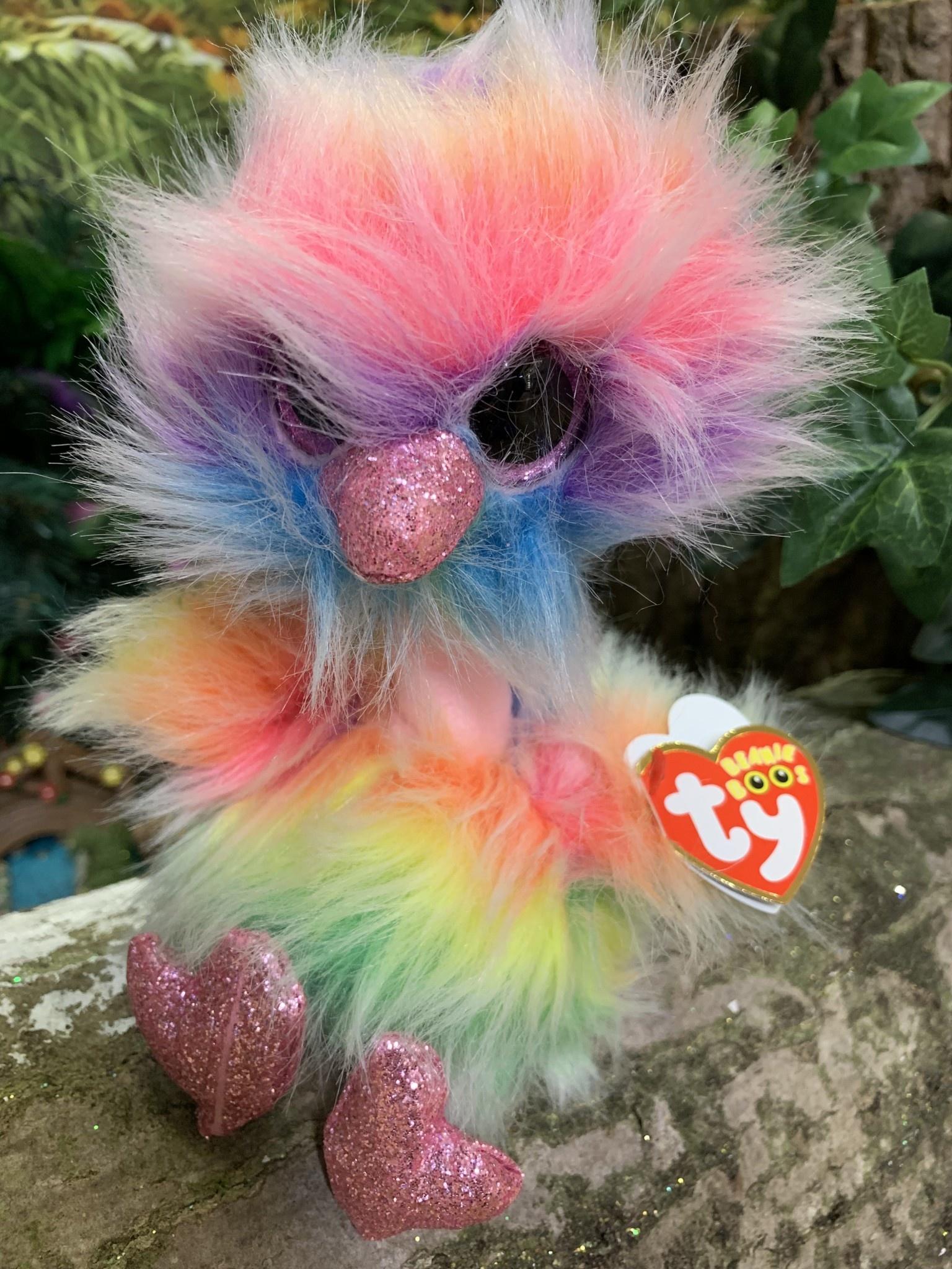 Ty Beanie Boo - Asha the Pastel Ostrich