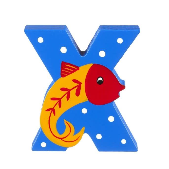 Wooden Alphabet Letter - X