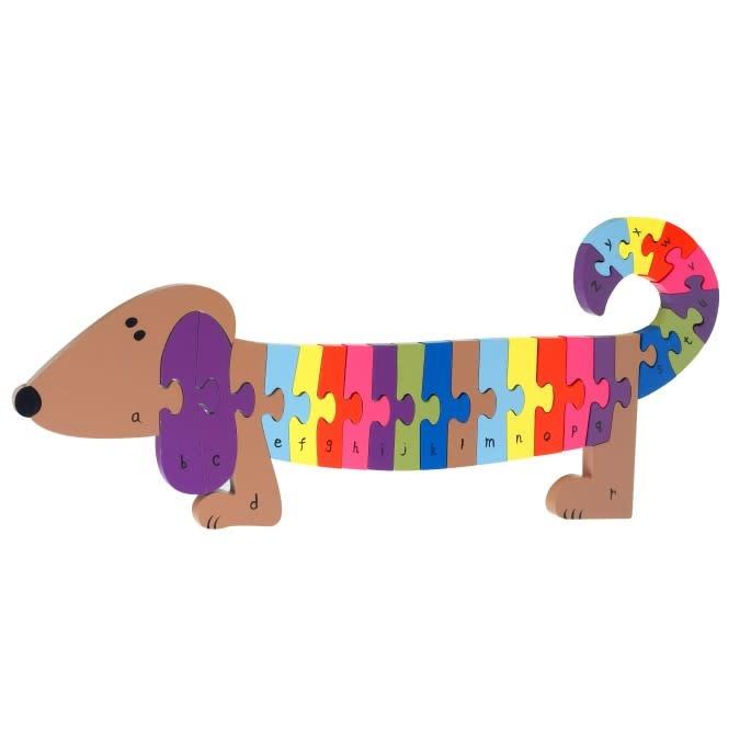 Wooden Alphabet - Dog Puzzle