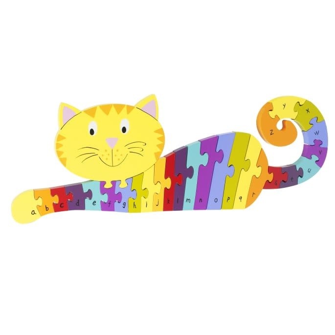 Wooden Alphabet - Cat Puzzle