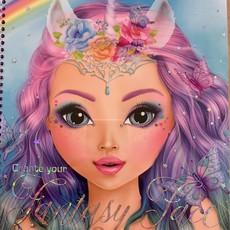 Top Model Create Your Fantasy Face - Colouring Book