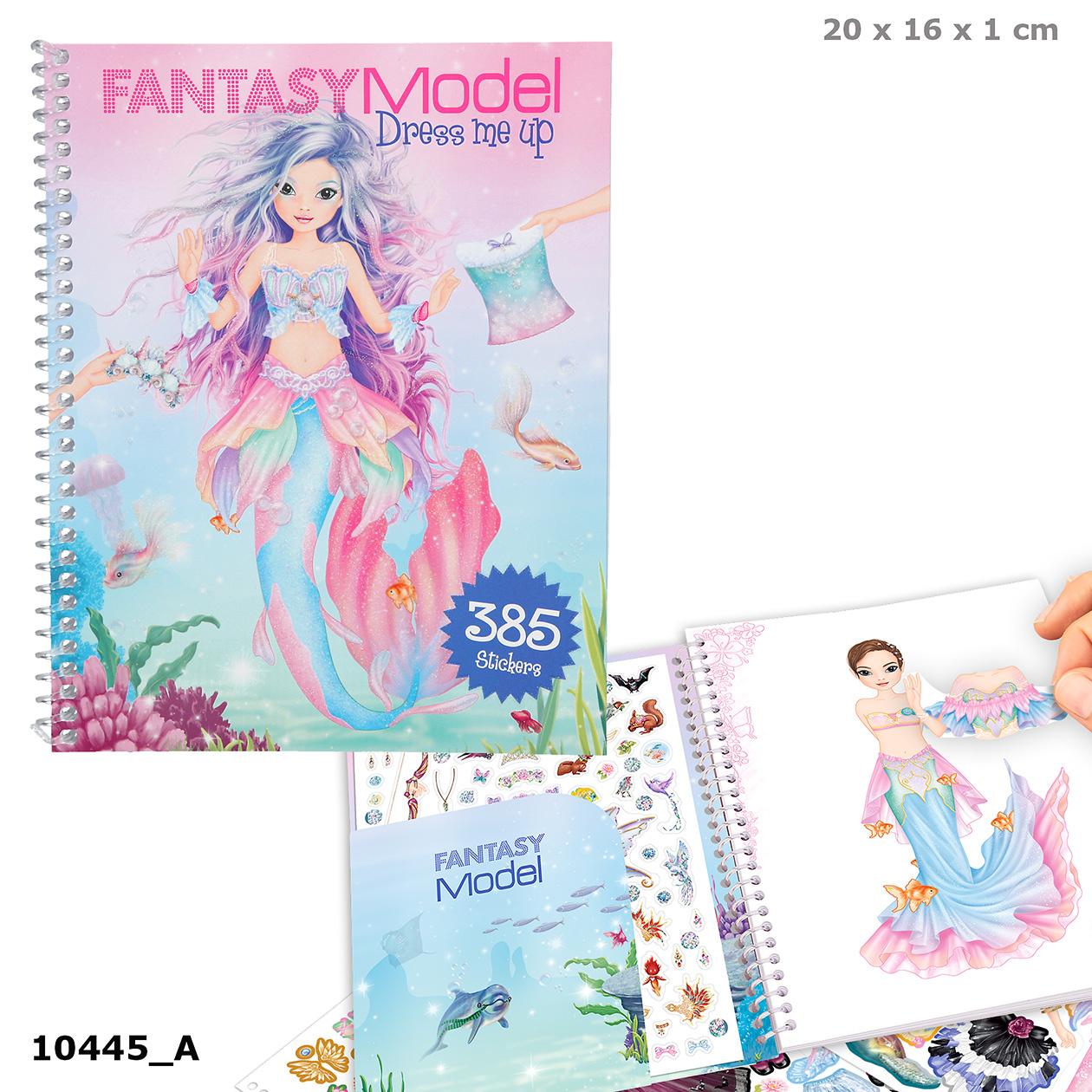 Top Model Fantasy Model - Dress Me Up Sticker Book