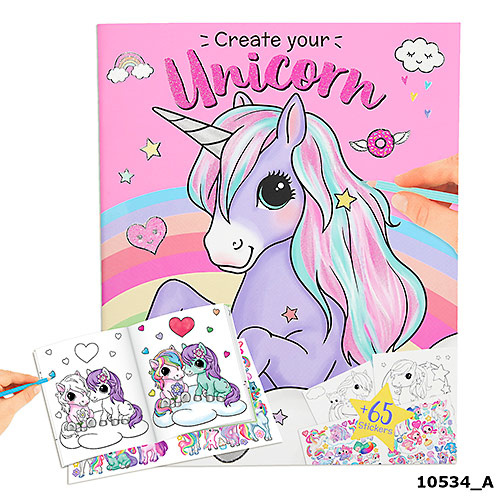 Ylvi and the Minimoomis Ylvi Create Your Unicorn - Colouring Book