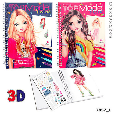 Top Model TopModel Pocket Colouring Book