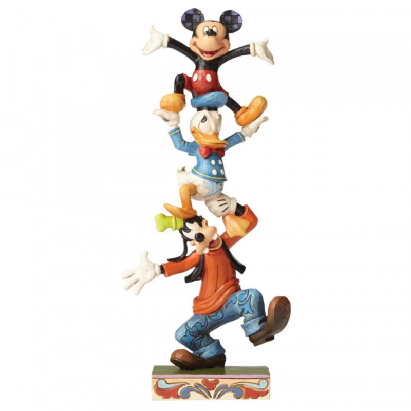 Disney Traditions Disney - Mickey Mouse, Donald Duck & Goofy - Teetering Tower