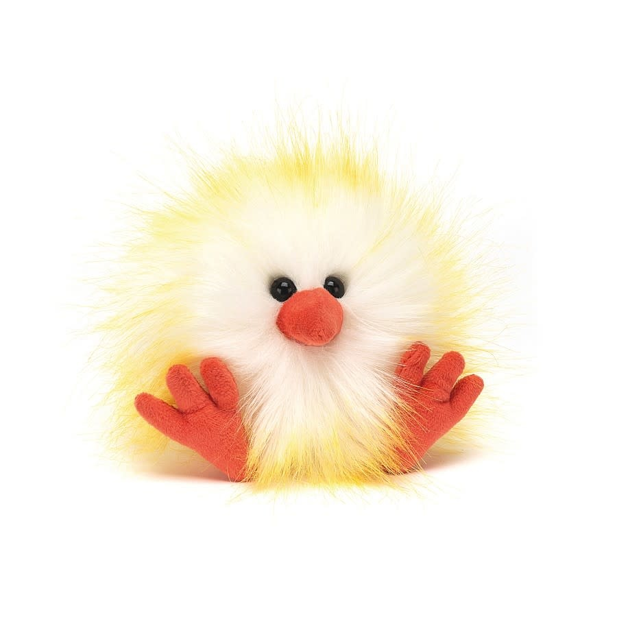 Jellycat Yellow & White Crazy Chick