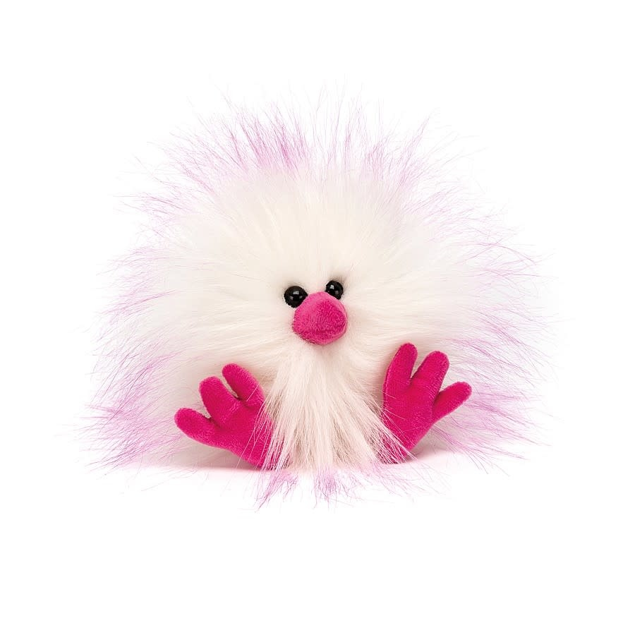 Jellycat Pink & White Crazy Chick