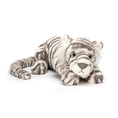 Jellycat - Big & Bold Jellycat - Sacha  Snow Tiger - Medium