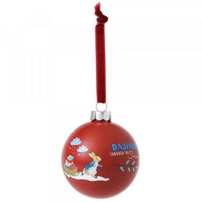 Beatrix Potter Peter Rabbit - Bauble - Merry Christmas