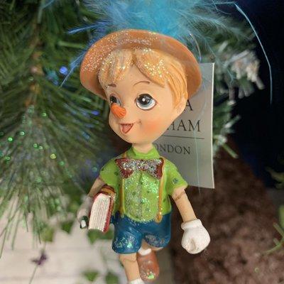 Gisela Graham Pinocchio Resin Hanging Decoration