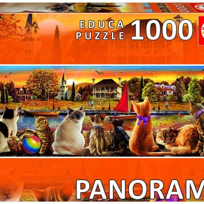 Educa 1000pcs - Cats on the Quay Panorama Puzzle
