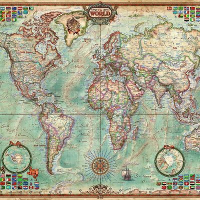 Educa 1500pcs - Political Map of the World Puzzle