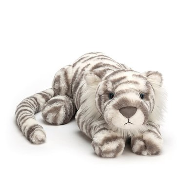 Jellycat - Big & Bold Jellycat - Sacha  Snow Tiger - Large