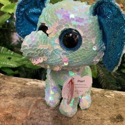 Ty Flippable Sequin Stuart Elephant - Beanie Boo