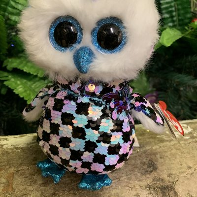 Ty Flippable Sequin Topper the Owl - Beanie Boo
