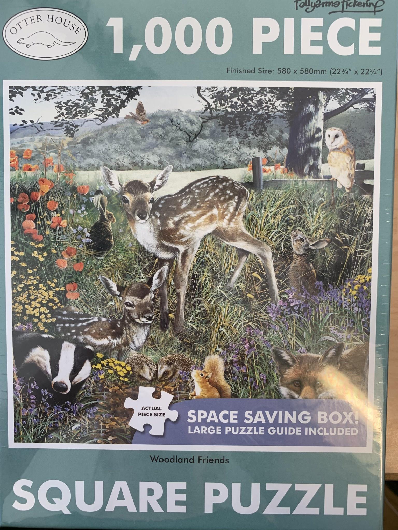 1000pcs - Woodland Friends - Square Puzzle